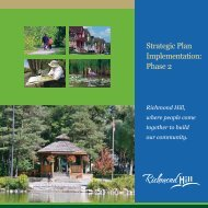 Strategic Plan Implementation: Phase 2 - Town of Richmond Hill
