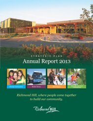 Strategic Plan Annual Report Website - Town of Richmond Hill