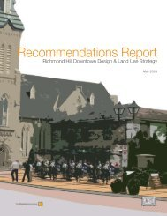 Recommendations Report - Town of Richmond Hill