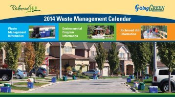 2013 Waste Management Calendar [PDF] - Town of Richmond Hill
