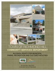 Alcohol Policy for Municipal Parks, Recreation and Culture Facilities