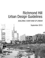TownWideUDG TOC_Changes.indd - Town of Richmond Hill