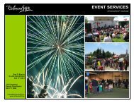 EVENT SERVICES - Town of Richmond Hill