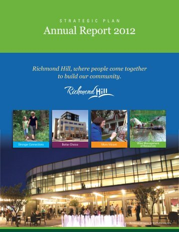 Annual Report 2012 - Town of Richmond Hill