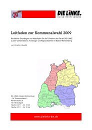 Leitfaden zur Kommunalwahl 2009 - DIE LINKE. LV Baden ...