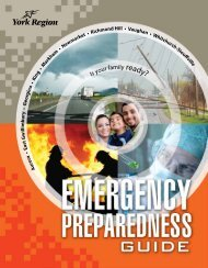 Emergency Preparedness Guide - York Regional Police