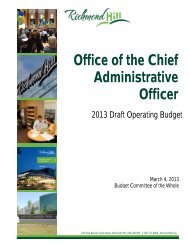 Office of the Chief Administrative Officer - Town of Richmond Hill