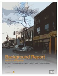 Background Report - Town of Richmond Hill