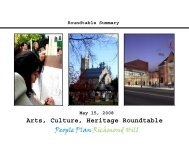Arts, Culture and Heritage Roundtable Summary of Proceedings