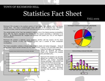 Statistics Fact Sheet - Fall 2009 [PDF] - Town of Richmond Hill