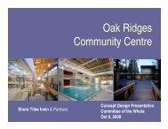 Oak Ridges Community Centre - Town of Richmond Hill