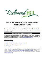 Site Plan and Site Plan Amendment Application Form - Town of ...