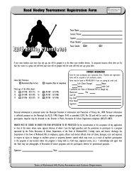 Registration Form [PDF] - Town of Richmond Hill