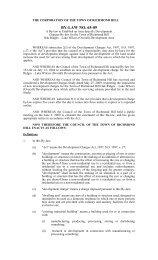 By-law 65-09 Oak Ridges - Lake Wilcox (Overall) Development Area