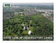 David Dunlap Observatory - Council Presentation - November 26 ...