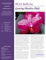 ROA Bulletin - Richmond Orchid Alliance