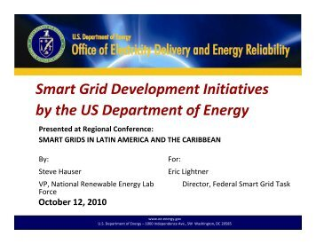 Smart Grid Development Initiatives by the US Department of Energy