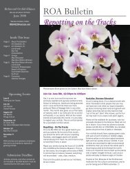 ROA Newsletter 200806.indd - Richmond Orchid Alliance