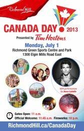 Canada Day Program [PDF] - Town of Richmond Hill