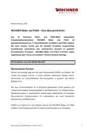 RICHNER Bäder und Plättli – Eine Idee persönlicher Harmonische ...