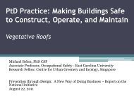 PtD Practice: Making Buildings Safe to Construct, Operate and ...