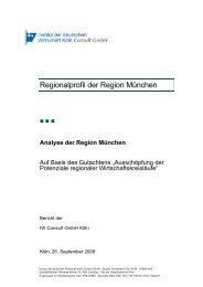 Analyse der Region München - Vereinigung der Bayerischen ...
