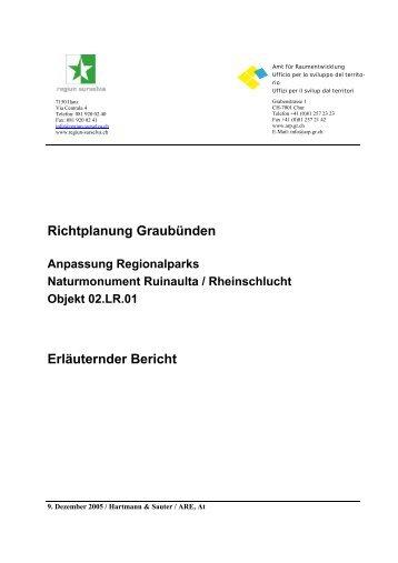 Richtplanung Graubünden Erläuternder Bericht