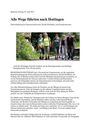 Alle Wege führten nach Hottingen