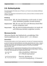 2.6. Kohlenhydrate - Ricki.ch