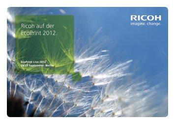 EcoPrint Event Guide PDF - Ricoh
