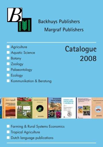 Catalogue 2008 Backhuys Publishers Margraf ... - Euronet Internet