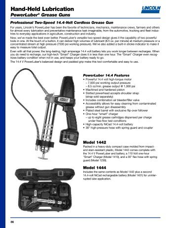 General Lubrication Equipment & Accessories - Lincoln Industrial