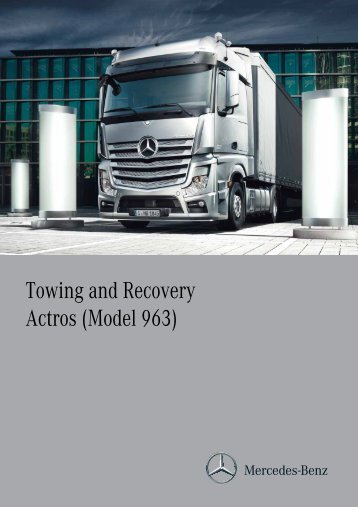 Towing and Recovery Actros (Model 963) - Association of Vehicle ...