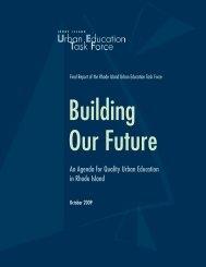 An Agenda for Quality Urban Education in Rhode Island