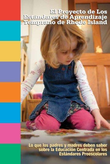 El Proyecto de Los Estándares de Aprendizaje Temprano ... - RI.gov