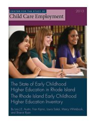 The State of Early Childhood Higher Education in Rhode Island The ...