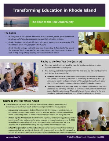 Race to the Top Overview Document - Rhode Island Department of ...