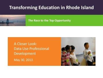 Transforming Education in Rhode Island - Rhode Island Department ...