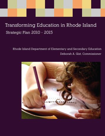 Transforming Education in Rhode Island - Rhode Island Department ...