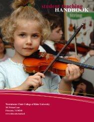 Student Teaching Handbook - Rider University