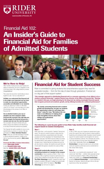 Financial Aid 102 - Rider University
