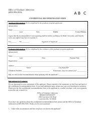 CONFIDENTIAL RECOMMENDATION FORM - Rider University