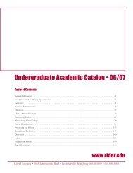 business administration - Rider University