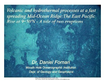 Volcanic and hydrothermal processes at a fast spreading Mid-Ocean ...