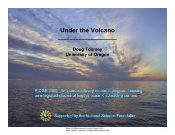 Under the Volcano (PDF, 7MB) - Ridge 2000 Program