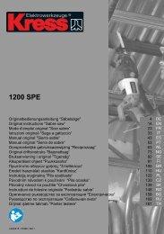 1200 SPE - DeWalt Service Technical Home Page