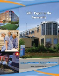 2011 Annual Report to the Community - Ridgeview Medical Center
