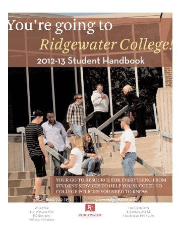 Student Handbook 2013.qxp - Ridgewater College