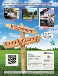 Ridgewater Summer Camp for Youth: Willmar Registration Packet