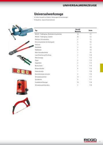 Universalwerkzeuge - Ridgid